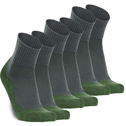 gipfelsport Wandersocken Experience aus Merino Wolle - Socken für Outdoor, Trekking I Größe 45-47 I Grün I 3X Paar