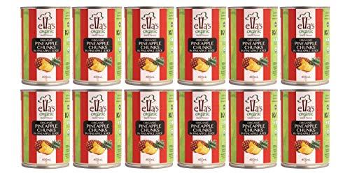 オーガニック パイナップル缶 400g×12個<1ケース箱売り>★ 宅配便 ★アスプルンド ELLA'S ORGANIC パイナップル缶 : Ella's Organicのフルーツは20年以上にわたり、農薬不使用の管理栽培の下、高品質のフルーツを世界中で提