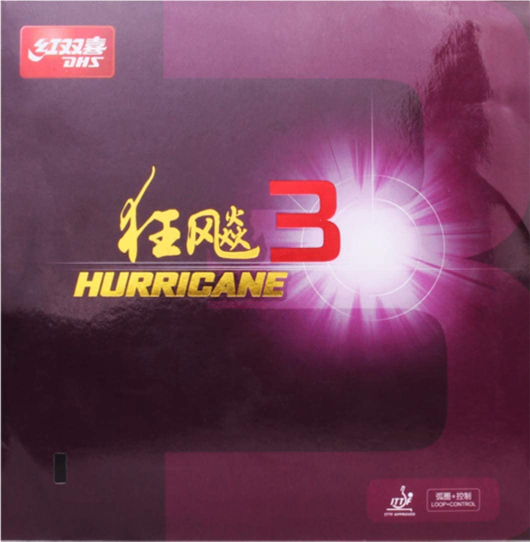 DHS Recommended Hurricane Max 78% OFF 3 Table Tennis Racket in Pong Pimples Ping Rubber