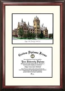 Campus Images MI983V Wayne State University Scholar Diploma Frame, 8