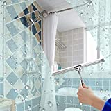SHAFAH® Shower Squeegees Stainless Steel with Suction Cup Hook Window Squeegees for Bathroom