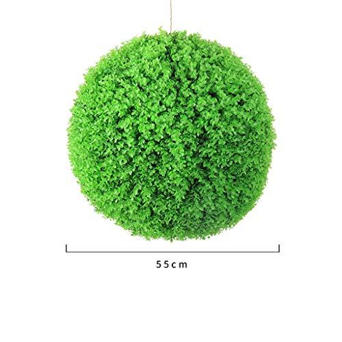 LXLTL Kunstpflanzen Hochwertige & Künstliche Buchsbaumkugel Naturgetreu & Wetterfest - Dichtes Blattwerk & Natürliche Farben - Premium,55cm
