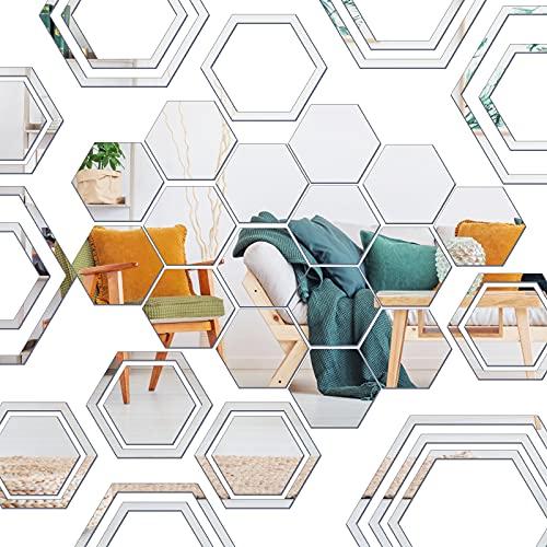 Espejos Decorativos para Habitacion Plata Marca Chrisfall