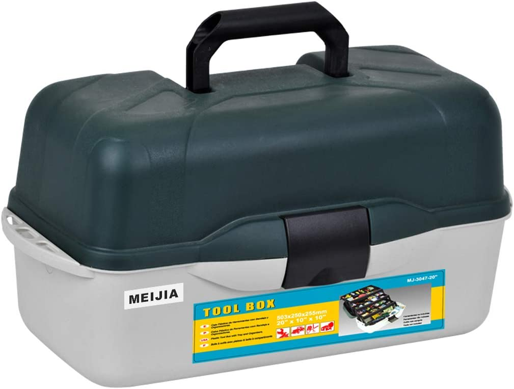 MEIJIA Portable Fishing Seattle Mall Tackle Box 3-Tray It is very popular Cantilever Outdoor Fi