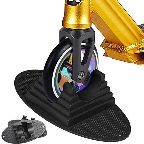 Soporte Individual Scooter Soporte Universal para Scooter, para patinetes profesionales, patinetes y la mayoría de los principales scooters con ruedas de 90 mm a 120 mm, Negro