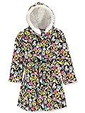 Rene Rofe Big Girls' Emojis Black Fleece Hooded Bathrobe...