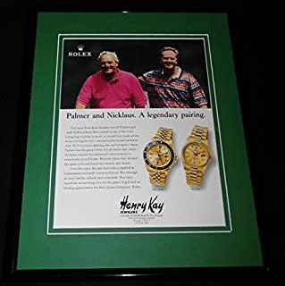 Arnold Palmer Jack Nicklaus 1998 Rolex Watches Framed 11x14 Advertisement