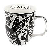 Karma Gifts Black and White Mug, 1 EA, HUMMINGBIRD