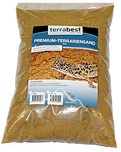 Premium Terrariensand gelb 5 kg grabfähig Bodengrund Terrarium Terrariensand