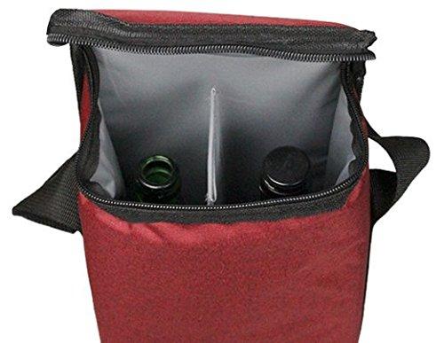 UNIワインバッグボトルバッグ2本用【保冷保温割れ防止】仕切りパーティーお正月お花見バーベキューBBQ