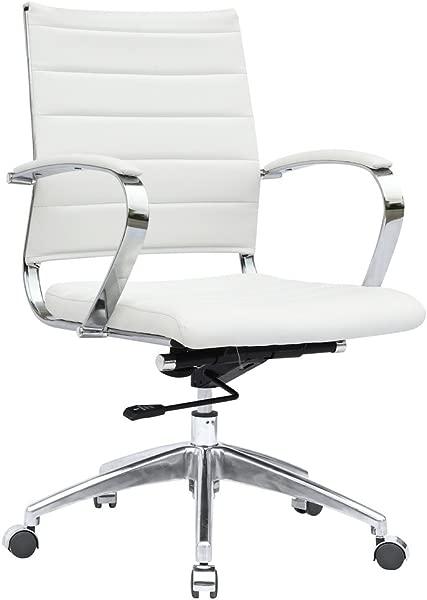 现代现代办公椅白色皮革