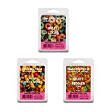 3 Pack Fruity Cereal Bundle - Scented All Natural Soy Wax Melts - 6 Cube Clamshells 3.2oz Each - Highly Scented!