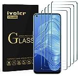 ivoler 4 Unidades Cristal Vidrio Templado Protector de Pantalla para Xiaomi Redmi Note 10 5G / Xiaomi Poco M3 Pro 5G / Xiaomi Redmi 10 / OPPO A73 5G / A52 / A72 / Realme 7 4G / 5G / 6 / 6S / TCL 10L