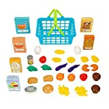 Just Like Home 35 Piece Shopping Basket - Blue by Toys R Us