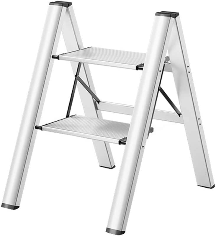 Step Ladder Aluminum Lightweight Folding Stool Pl Wide with Directly managed store Super-cheap