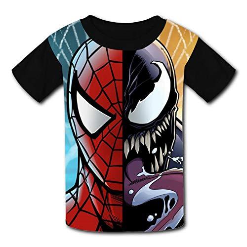 YU-GI-HO Kinder-T-Shirt, bequem, 3D-Grafik, kurzärmelig, für Jungen und Mädchen Gr. L, Mi-les Mor-ales 1