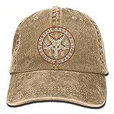 wwoman Granizo Satan Baphomet Ram Logo Adulto Sombrero de Vaquero Gorra de béisbol Ajustable Atlético Hacer Personalizado Sombrero Deportivo para Hombres y Mujeres