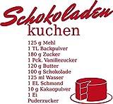 GRAZDesign Wandtattoo Küche Spruch Schokoladen-Kuchen Rezept Geschenk für Mama Wand-Deko für Café, Bar, Kneipe als Aufkleber (44x40cm//031 rot)