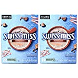 Swiss Miss Peppermint Hot Cocoa K Cups - 44 K Cups Total - Pack of 2 Boxes - 22 K Cups Per Box - Bulk Peppermint Swiss Miss Hot Cocoa - For Use of Keurig Coffee Makers