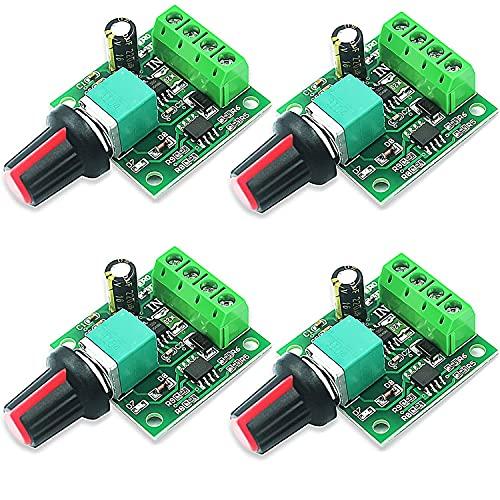 RUNCCI-YUN 4pcs 1,8 V 3 V 5 V 6 V 7,2 V 12 V 2A PWM Motor-Drehzahlsteller,DC drehzahlregler 12v,Motordrehzahl Schalter Controller Led Volt Regler Speed Controller