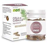 NEO | Extracto de Tallos Estériles de Cola de Caballo 200 mg | 45 Cápsulas Naturales | Con Efecto Diurético | Libre de Alérgenos y GMO | Tomar de 1 a 2 Cápsulas a Día | Liberación Rápida