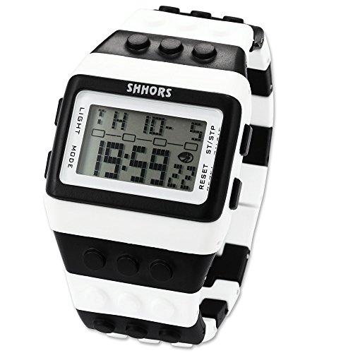 AMPM24 LED095 - Reloj Digital Unisex, Correa de Silicona, Multicolor, LED, Deportivo