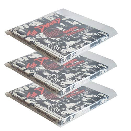 60 12 inch Vinyl Record Album LP 450 Gauge 112.5 Micron Polythene//Plastic Sleeves LDPE 325mm x 328mm//Acid Free