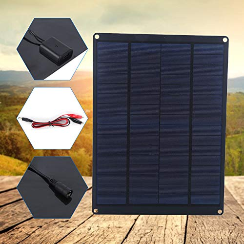 KUIDAMOS Panel Solar, Cargador de Panel Solar para Exteriores, Alta tasa de conversión de 10 W para Acampar, Viajar, para Ciclismo al Aire Libre, Senderismo