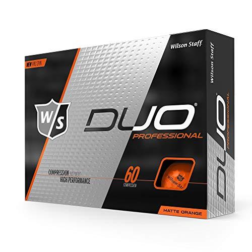 WILSON Unisex-Erwachsene W/S Duo Professional 12-Ball Golfball, Neon-Orange