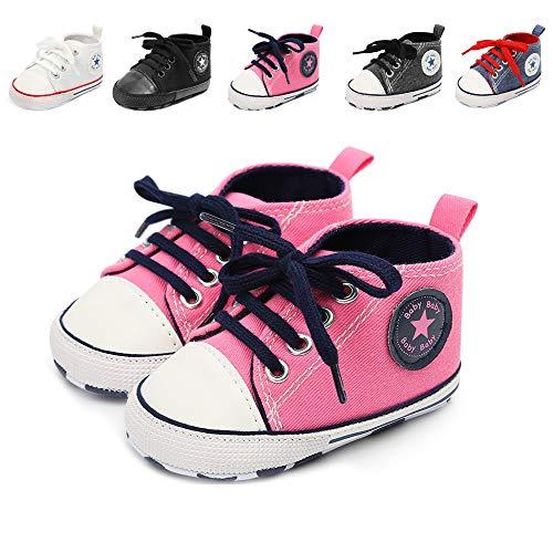 Babycute Baby-Schuhe für Neugeborene, Beige - A2-blacktiepink - Größe: 12-18 Mois