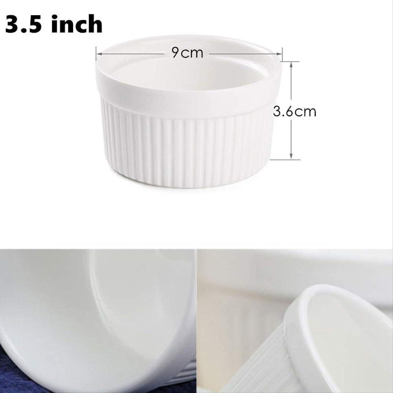 Ahorre hasta un 70% de descuento. MYQG Baking Mold Mold Mold Porcelaine Ramekins Cerámica Ramekins Porcelana Souffle Cup Pudding Molde Muffin Baking Cup Pack De 6 3.5 Pulgadas 9x3.6cm  100% a estrenar con calidad original.