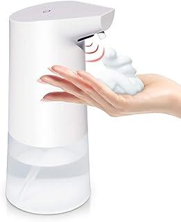 【Amazon.co.jp 限定】 チチロバ(TITIROBA) ソープディスペンサー 自動 ハンドソープ 泡 オート ノータッチ センサー式 電動 ディスペンサー 乾電池式 320ml 透明ボトル 防水 台所 手洗い ホワイト PM-01