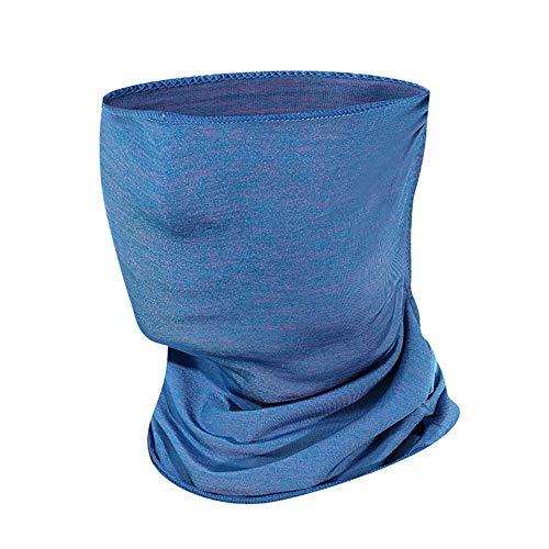 WISREMT - Pasamontañas para ciclismo al aire libre, protección UV, protección para la cara, transpirable, a prueba de polvo, para senderismo, pesca, escalada Azul azul Talla única