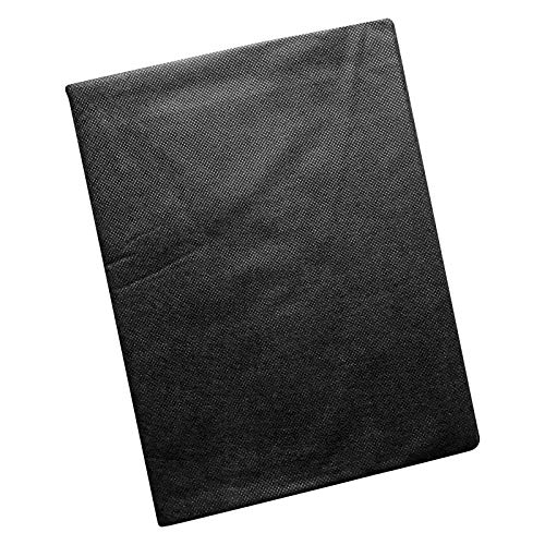Quantio WENKO Unkrautvlies - Polyester, atmungsaktives wasserdurchlässiges Vlies, 3,6 m² bis 129,6 m², Schwarz, Verschiedene Mengen wählbar, Größen:3.6 m²