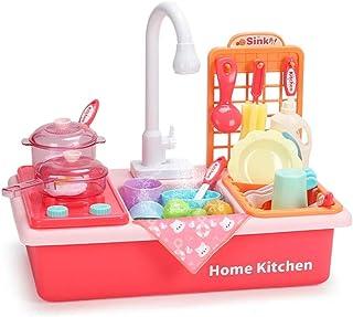 Toy Kitchen Playsets, Kids Play Kitchens Dishwasher Kitchen Pretend Play Kids Kitchen Accessories Pretend Classic Toys Chi...