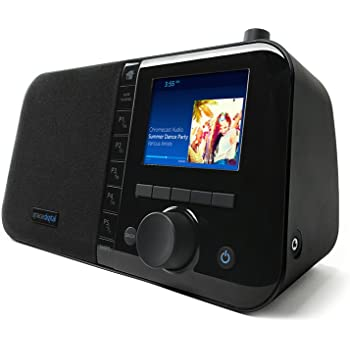 """Grace Digital Mondo+ Wireless Smart Speaker and Internet Radio with Wi-Fi + Bluetooth and 3.5"""" Color Display"""