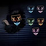 Halloween LED Masks,Christmas Carnival Costume Party Grimace Festival Cosplay