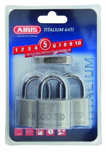 ABUS 64ti/40 Titalium Padlock 40mm Triple Pack