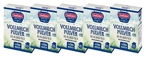 Saliter Alpen-Vollmilchpulver, 5er Pack (5 x 250g)