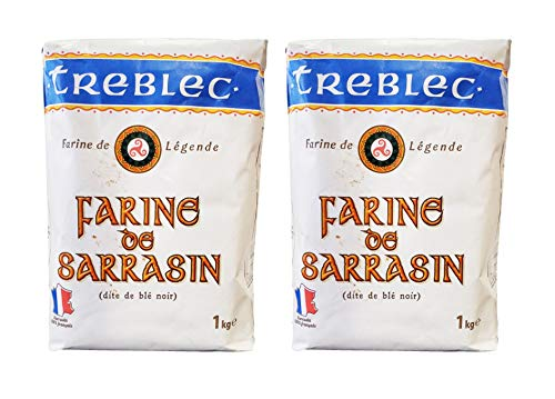 Treblec Farine de Sarrasin French Imported Buckwheat Flour (2 Pack, Total of 4.4lbs)