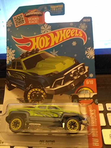 Mattel Hot Wheels, 2016 HW Hot Trucks, Off-Duty [Neon Green/Blue] Die-Cast Vehicle #6/10 by