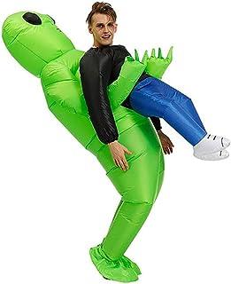 SYXX Extranjeros verdes Carry Disfraces Humanos, Puntales inflable Ropa Caminar apoyos de la demostración, Diversión inflable Juegos de la explosión de Cosplay Partes, los trajes de Carnaval de Hallow
