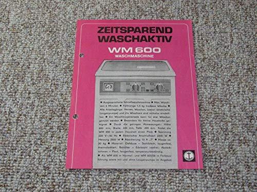 Werbeblatt Waschmaschine WM 600