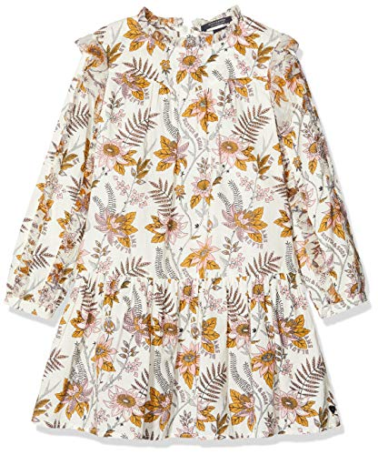Scotch & Soda Mädchen Blumen-Print Kleid, Mehrfarbig (Combo A 0217), 176 (Herstellergröße: 16)