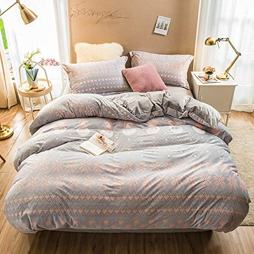 geek cook Winter Warm Flannel,6D carved baby velvet four-piece coral velvet bed sheet duvet cover double-sided French velvet thickened winter warm flannel-1_2.0m (6.6 feet) bed