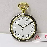 懐中時計(A53) クオーツ アンティーク風 金銀黒