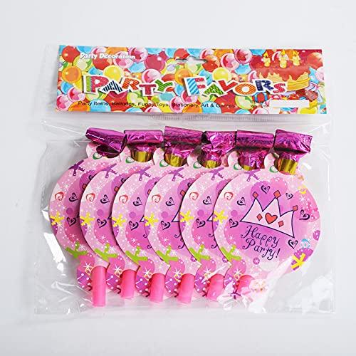 KOUQI Suministros De Decoración Y Arreglo para Fiestas De 6 Personas para Niños Dragón Soplador Corona Rosa (1 Paquete de 6)