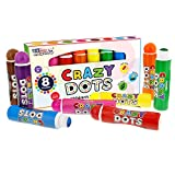 U.S. Art Supply 8 Color Crazy Dots Markers - Children's Washable Easy Grip Non-Toxic Paint Marker Daubers