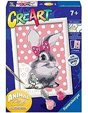 Ravensburger 28933 2 CreArt Serie E - Coniglietta, Dipingere con i Numeri, Gioco Creativo per Bambine e Bambini, Età Raccomandata 7+