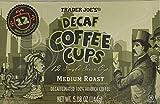Trader Joe's Decaf 100% Coffee, Medium Roast, 1 Box of 12 Coffee Cups